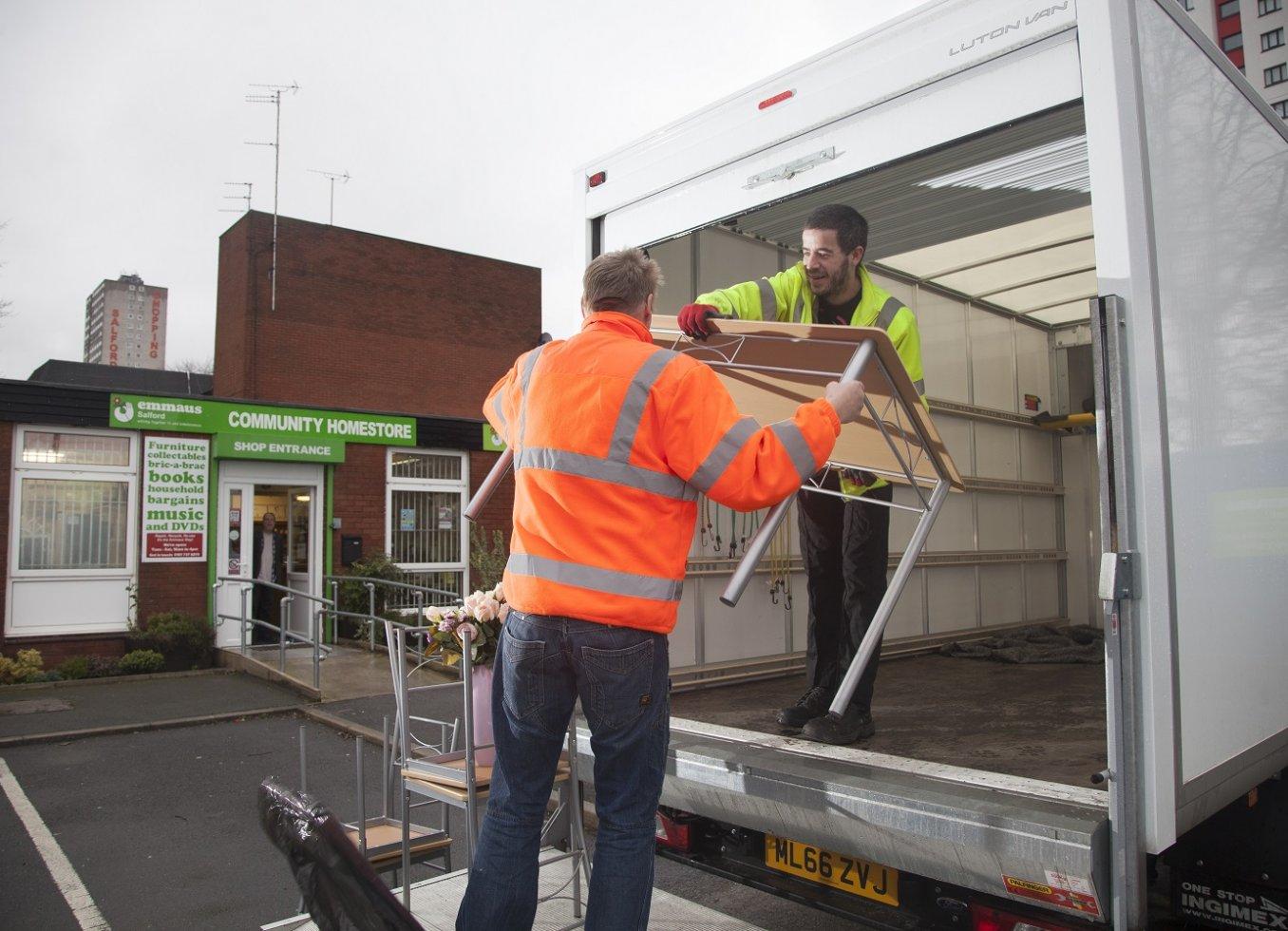 Donating goods to Emmaus Bradford