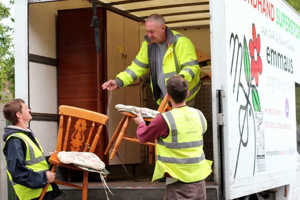 Donating goods to Emmaus Brighton & Hove