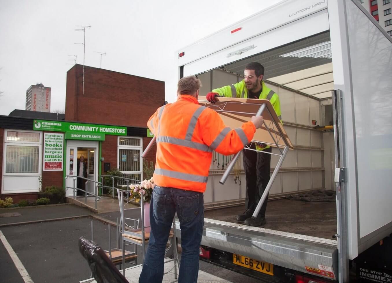 Donating goods to Emmaus Bristol