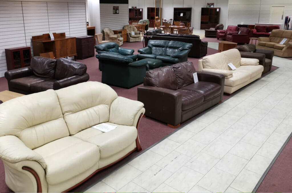 Furniture for sale at the Emmaus Department Store