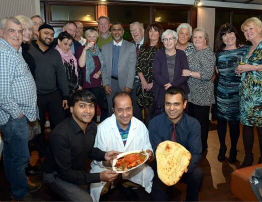 Supporters raise £1,100 at Charity Curry Evening