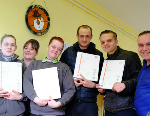 Companions from Emmaus Burnley complete NVQ training