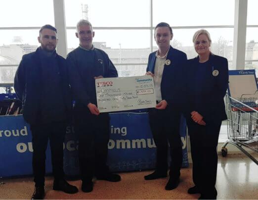 Tesco charity book stall benefits Emmaus Burnley