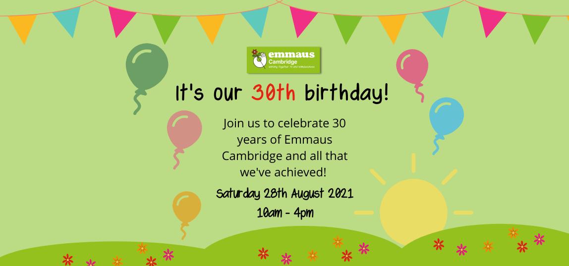 Emmaus Cambridge 30th Birthday Celebrations
