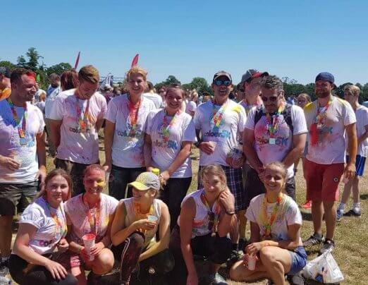 Emmaus Colchester complete 5k Colour Run