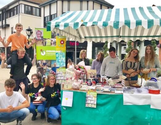 Young fundraisers support Emmaus Colchester