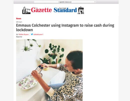 Emmaus Colchester's Instagram sales make the headlines