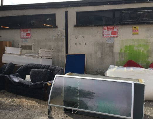 The cost of illegal fly tipping to charities