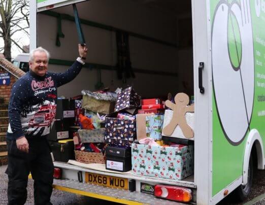 Delivering Christmas joy