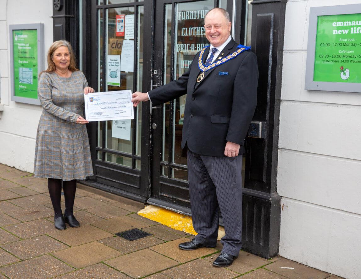 Essex Freemasons donate £20,000 to Emmaus Colchester