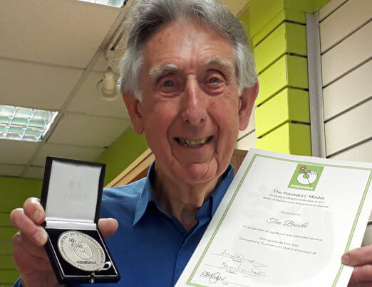 Medal awarded to our founder Tim