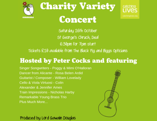 Raise money for Emmaus Dover by attending a charity variety concert