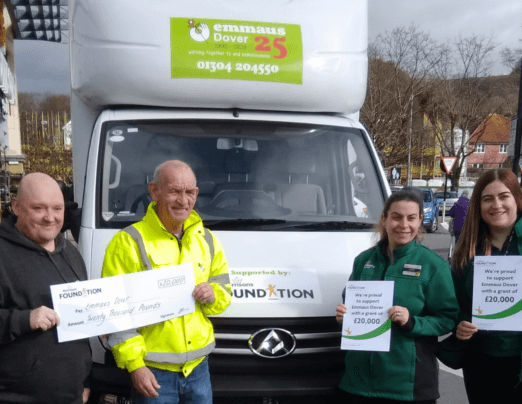 Emmaus Dover receives £20k donation from the Morrisons Foundation