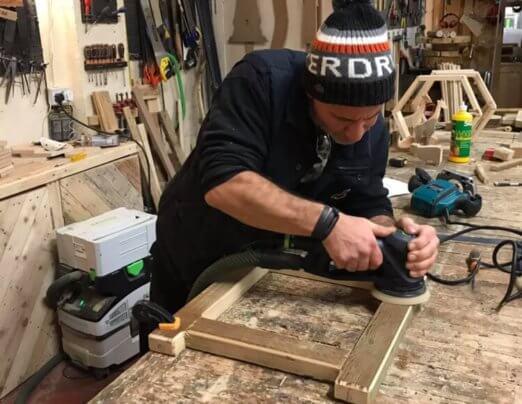 Emmaus Glasgow partnership with Boomerang Woodwork