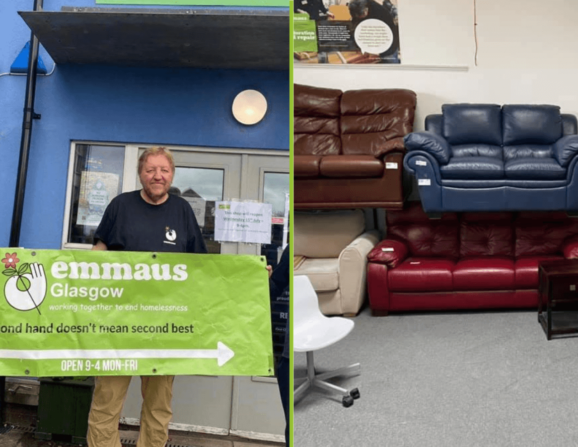 Emmaus Glasgow charity shops reopen
