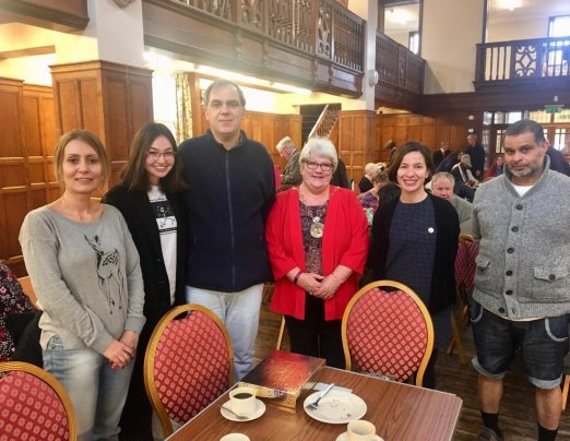 Mayor of Greenwich hosts second coffee morning for Emmaus Greenwich