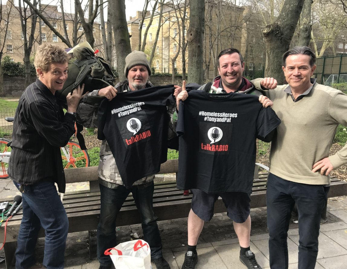 Homeless Heroes 100 mile walk for mental health awareness
