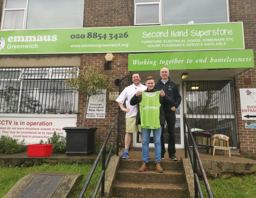 Emmaus Greenwich London Marathon Runner visits our community