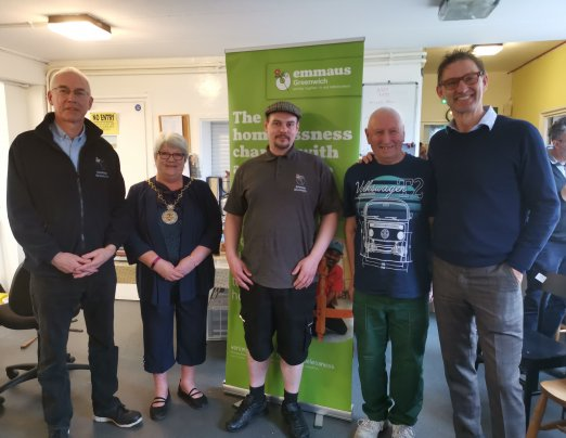 Arsenal football legend Tony Adams visits Emmaus Greenwich