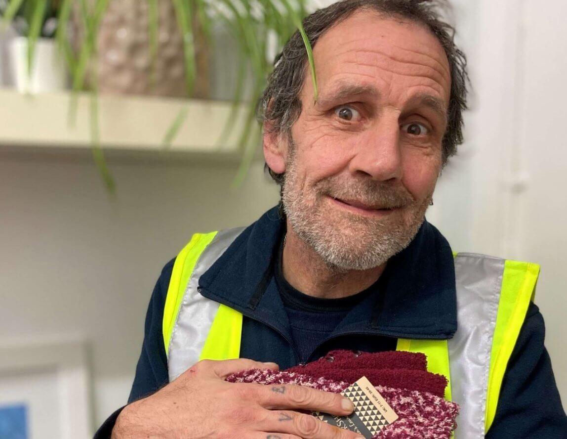 SOCKSHOP donates winter essentials to Emmaus Greenwich