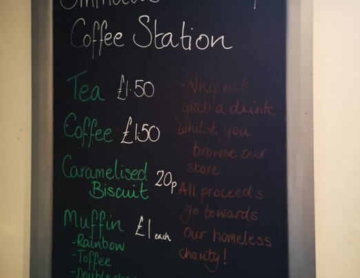 New tea and coffee point in Emmaus St Albans store!