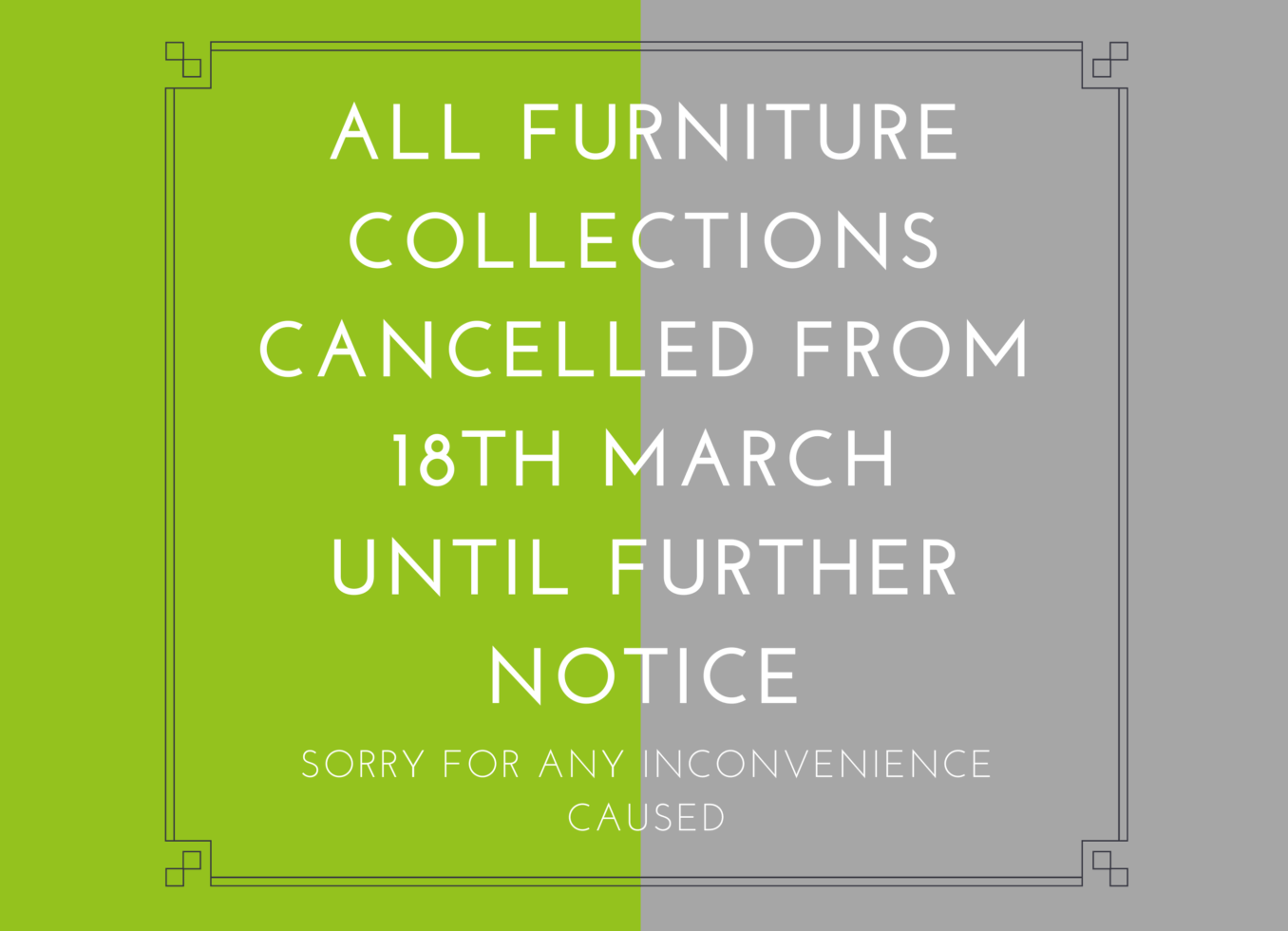 Collections cancelled from 18th March until further notice