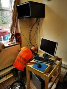 electrician at work emmaus