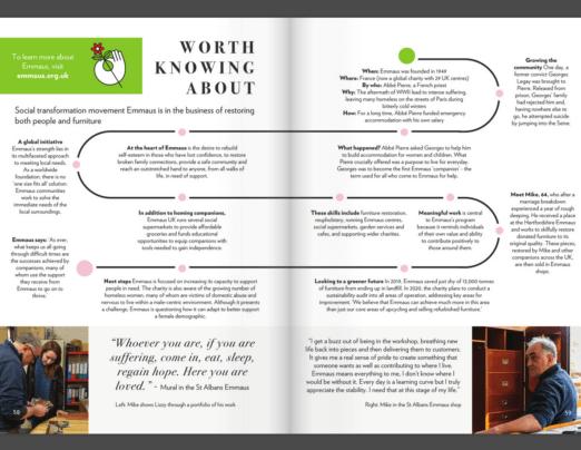 Emmaus Editorial in Vinterior's Spring Magazine