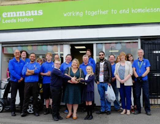 Local pupils and Lord Mayor open new Emmaus Leeds store