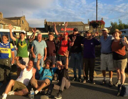 Emmaus fundraisers complete 29-mile walk for St Gemma's