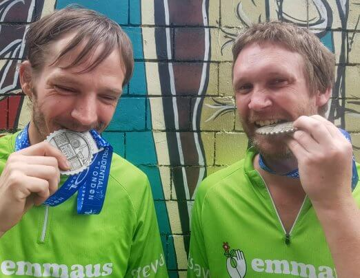 Nick and Vinny complete RideLondon challenge