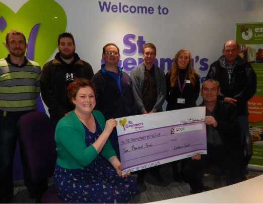 £2,500 donated from Wall's Walking Challenge