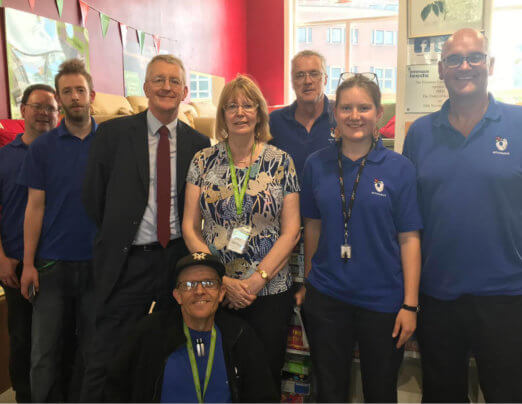 Hilary Benn MP visits Emmaus Leeds