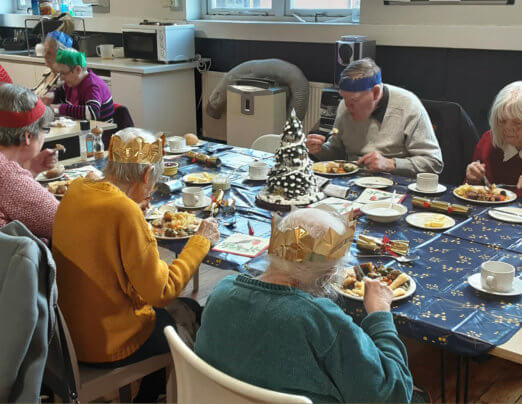 Companions cook Christmas dinner for retired group