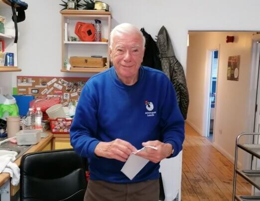 Celebrating Peter Talbot after 10 years of Volunteering at Emmaus Leeds