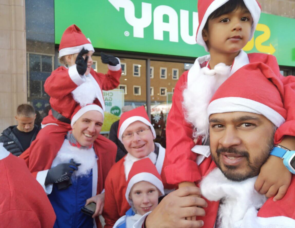 Santa Run raises over £700