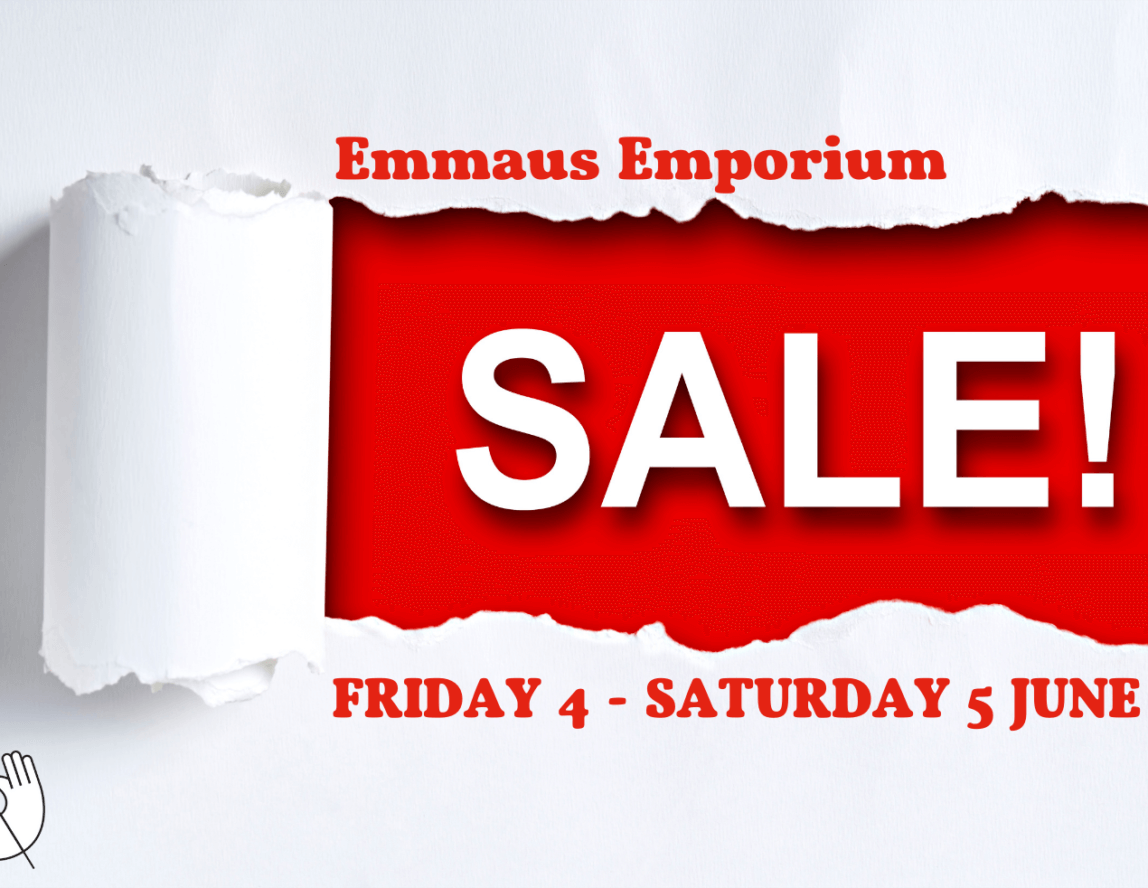 Half price sale tomorrow