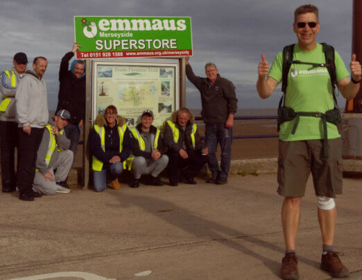 Derek departs on 250 mile fundraising walk for Emmaus