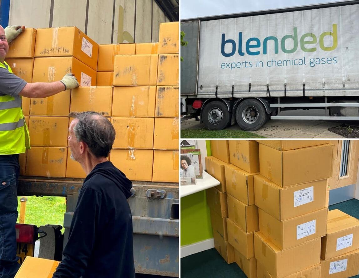 Community shares big Blended donation