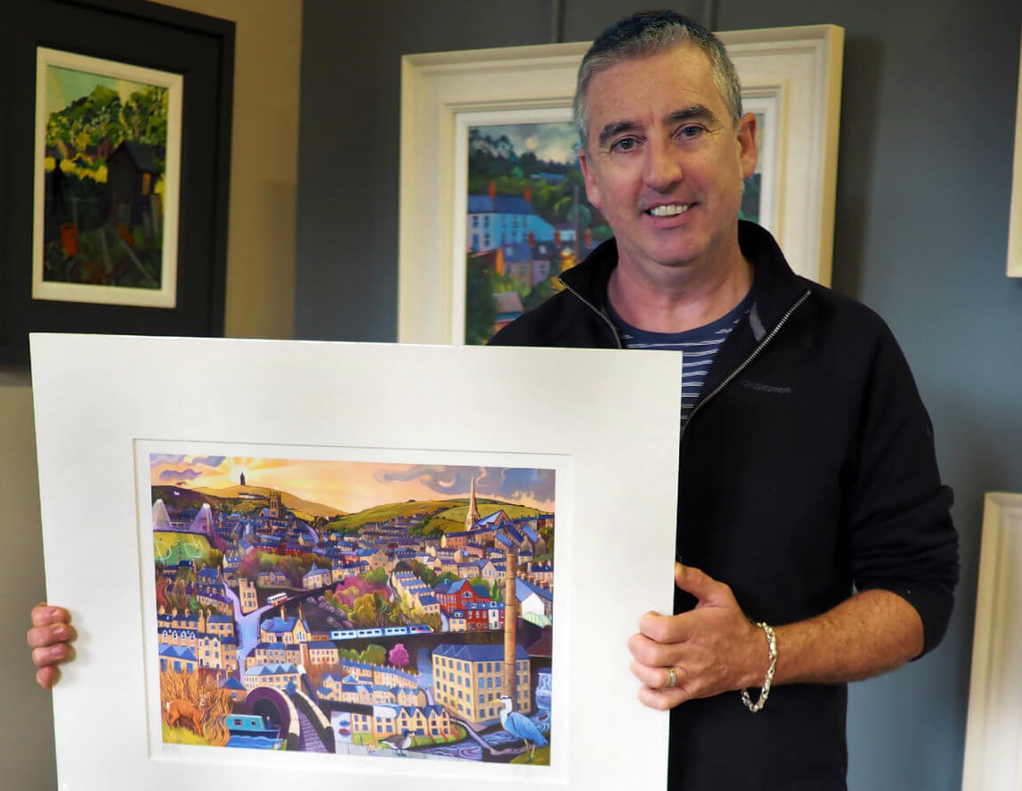 Artist Chris Cyprus gifts 'Old Milltown' print and puzzles