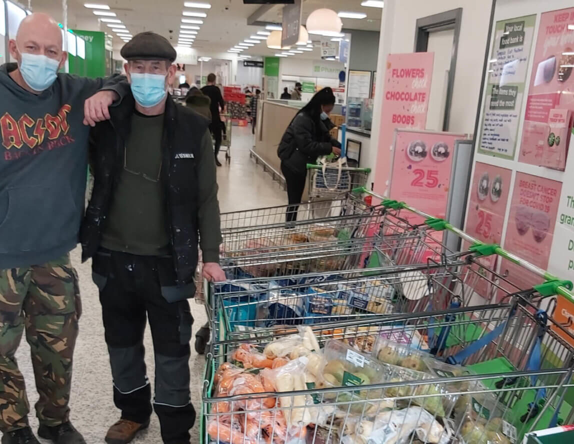 Companions benefit from big supermarket sweep