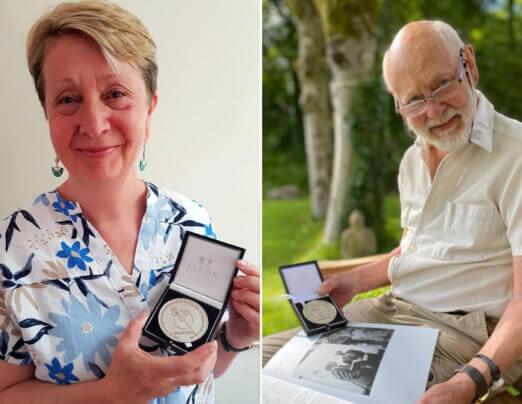 Medals for Emmaus Mossley hidden heroes