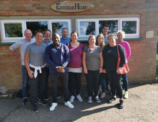 Team of Aviva volunteers help Emmaus community