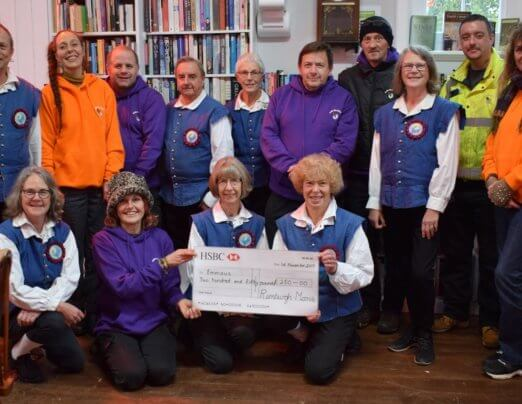 Rumburgh Morris donates £250 to Emmaus
