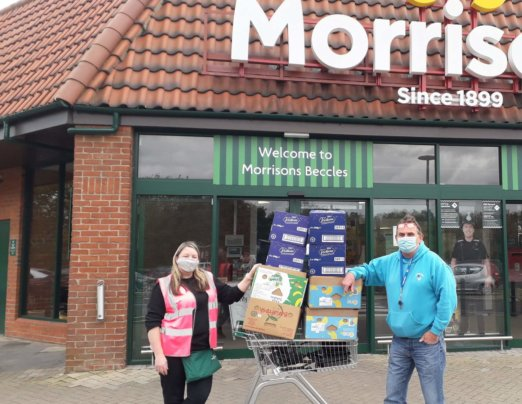 "Emmaus Norfolk & Waveney says ""Thank you"" Morrisons"