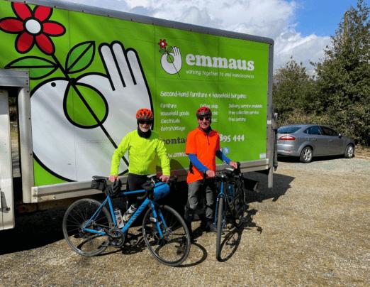 Cycling duo raising money for Emmaus Norfolk & Waveney