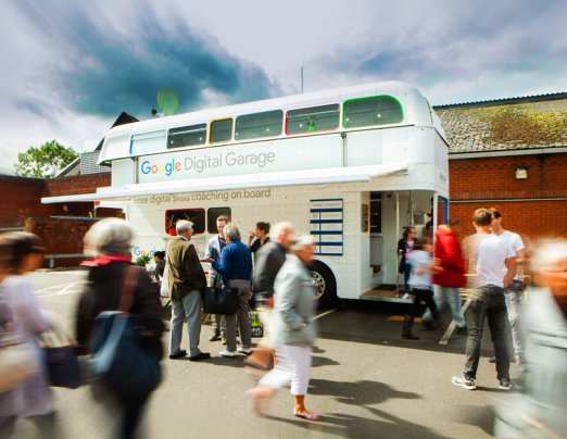 The wheels on the Google Digital Garage bus roll into the North East