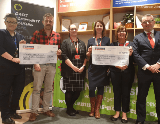 Emmaus North East receives donation from Nationwide Community Grants