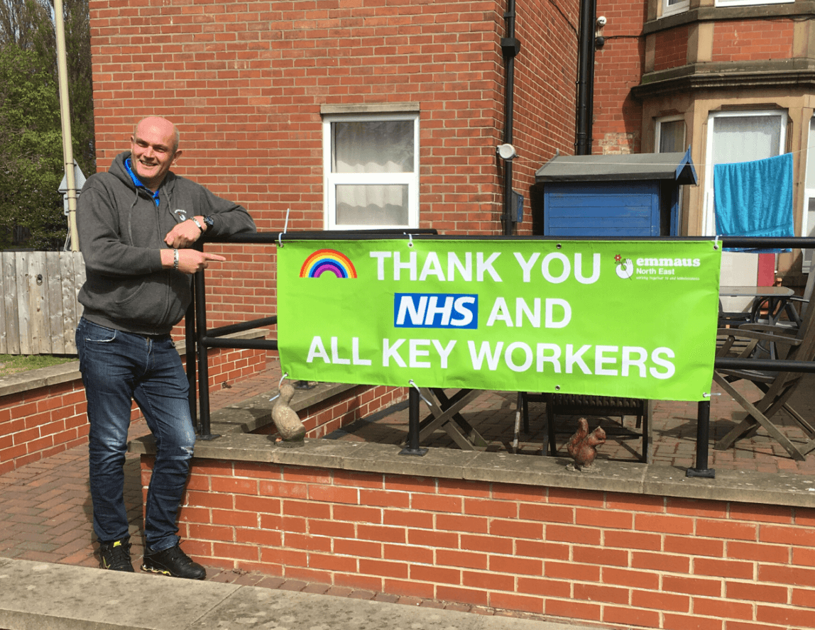 Emmaus North East companions thank NHS staff and key workers