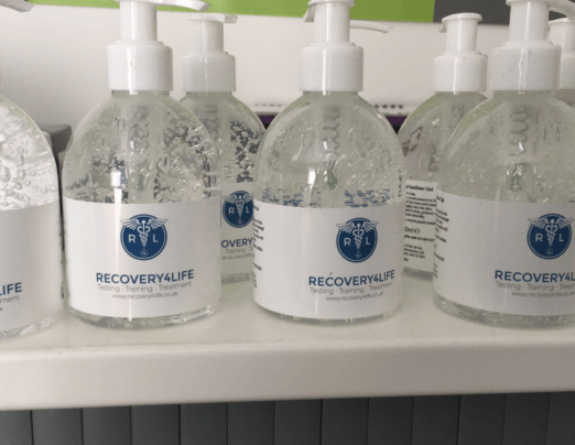 Recovery4life donates hand sanitiser to companions at Emmaus North East